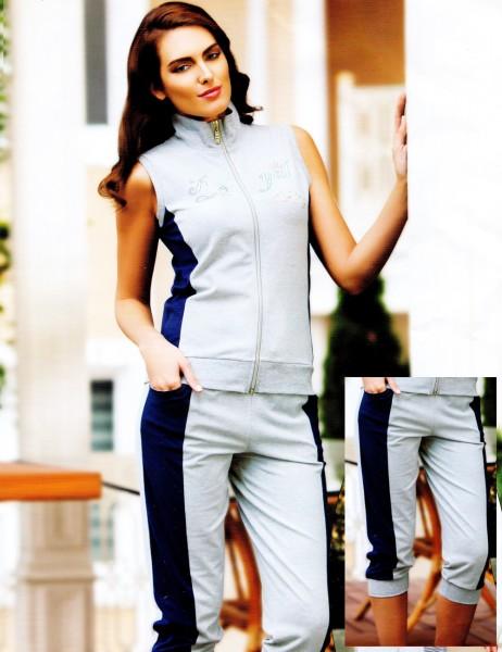 Şahinler - Şahinler Zip Track Suit Grey MBP21739-2