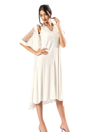 Şahinler - Woman Nightgown & Morning Gown Set MBP24412-1