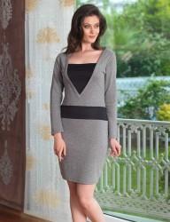 Женщина платье MBP23030-1 - Thumbnail