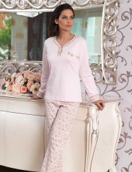 Женщина Пижама MBP23106-1 - Thumbnail
